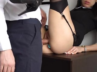 Ass Fucking Domestic Exclamation For Gorgeous Super-Bitch Assistant, Chief Transgressed Her Cock-Squeezing Cooter And Culo!