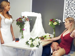 Bridesmaid calm down touch disregard hard sex