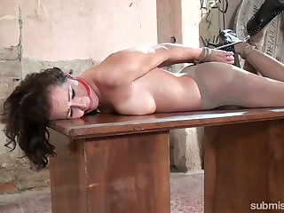 Just buxom nympho with sexy butt Adel Sunshine who loves bondage