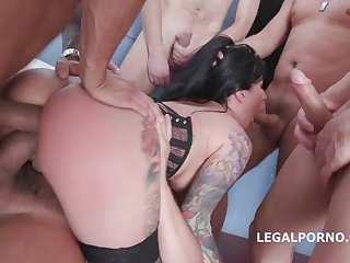 Lily Lane 7on1 Gangbang - Make a point HARD Ignoble