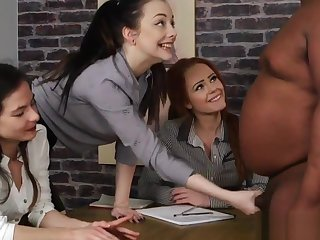 CFNM office beauties wanking disastrous dick