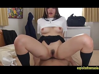 Cute Riza Zuzuki Had Sex In Say no to Uniform Uncensored Spot on target Pink