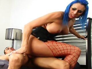 Inviting Blue Haired Bbws Baby Riding A Big  - angelica raven