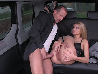 Traffic sex in the backseat