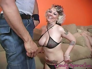 Cuckold watching Candy Monroe getting hard pounded by a dusky gay blade