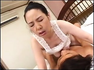 Japanese of age tart all round a yummy tits looks hot