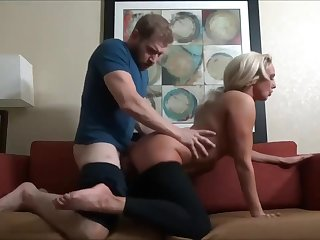 Stepson massages mommy and cums in her light - Watch Part 2 more than Hotcam666