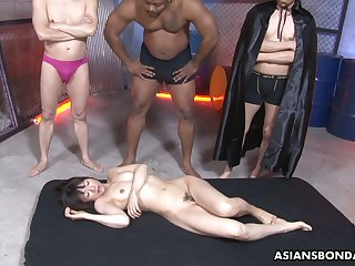 After sucking some dicks Japanese slutty nympho Shiori Natsumi gets poked