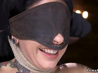 Alt darkhaired slave gets give the impression pounded