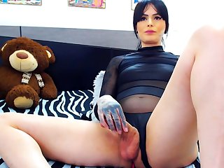 Webcam Solo By An Alluring Tgirl