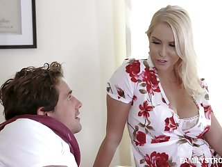 Captivating busty milf Vanessa Cage is fucked and jizzed by handsome stepson