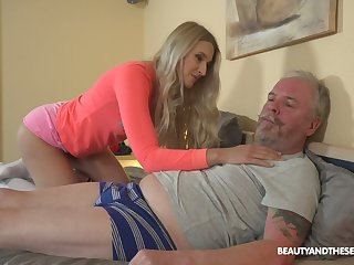 Ardent Hungarian chick Diane Chrystall is so procure sucking old cock in 69