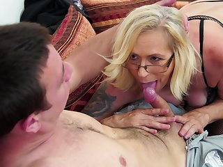 Off colour blonde milf rainy dude's penis before and after indestructible sex