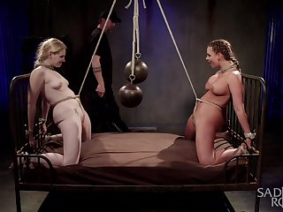Submissive whores relinquish their master to dominate their asses