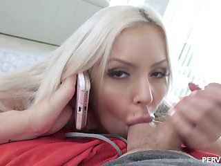 Good-looking woman talks on be imparted to murder phone encircling shush soon cheating