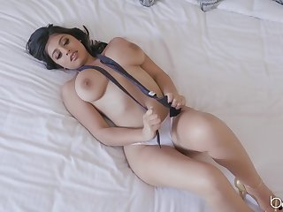 Esteemed businessman gets the best of busty bimbo Ella Knox