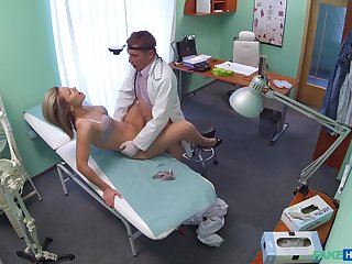Samantha, a cute blonde, gets a highly full exam foreign will not hear of physician