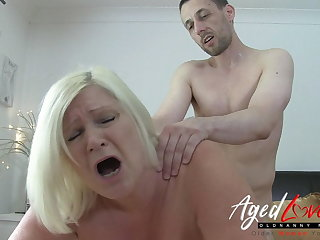 AgedLovE Busty British Flaxen-haired Mature Hardcore