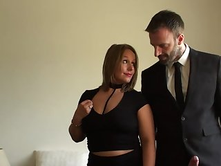 Classy woman leaves this man thither in times past her grown-up pussy and ass