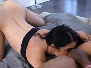 Horny guy Johnny Castle fucks seductive girlfriend Alex Coal and cums on her tongue