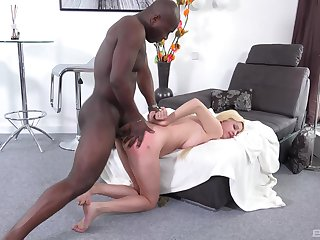 Blondie feels the gloomy stud dominating will not hear of ass in merciless XXX