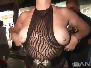 This video gives you the chance to see lots of hoes baring their tits and twats