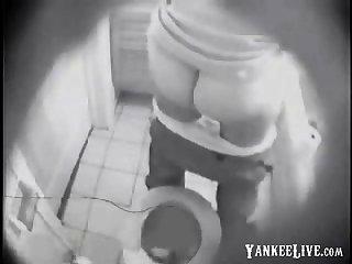 NOT My suckle fingering in toilet afoul by hidden cam