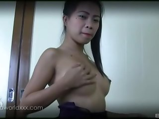 Slim professional escort masturbates for her client while blowing him
