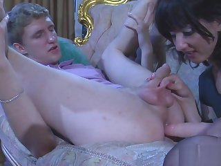 Wed Fucks husband with a strapon