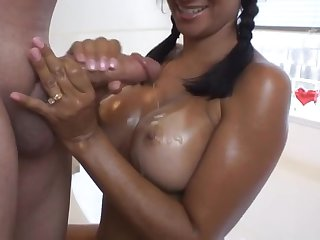 Seductive Latina Spliced - Nice Handjob