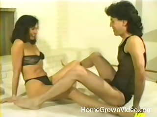 Retro group sex video with a kinky full-grown couple and a sexy bazaar