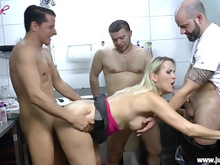 GangBang - fucked in all respects holes