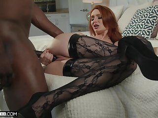 Ginger seductress Lacy Lennon is cheating on her husband encircling BBC