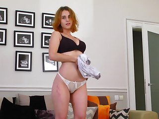 Highly motivated with an increment of sexy redhead from Ukraine Eva Poniard is ready be required of solo