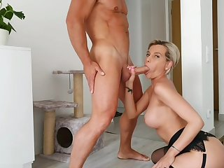 Hot MILF Subil Arch Sucking Neighbors Dick