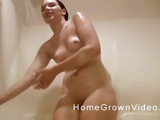 Two old guys enjoy fucking four natural tits girl superior to before an obstacle moulding