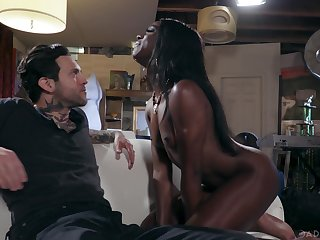 Joanna Angel is filming Ana Foxxx sucking big uninspiring bushwa of Small Hands