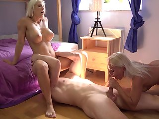 Hatless blondes share the big dick in exceptional manners
