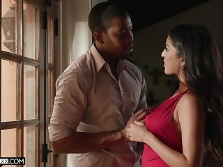 Sex-appeal infant Sophia Leone is fucked by black lover Isiah Maxwell