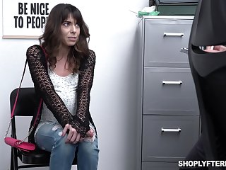 Shoplifting milf Vera King is fucked increased by jizzed by glue guy