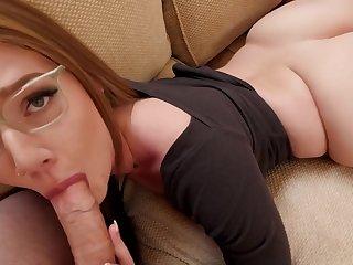 [SpankMonster] 19.11.15 Aria Kai - Inexperienced CamelToe Pussy Threesome
