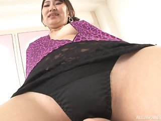 Wife Marina Shiina loves giving titjobs to her big dick husband