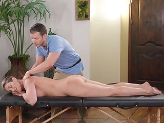 Inviting rub-down boy tries to trouble bossy cougar Ryan Keely