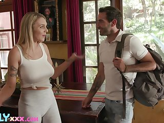 All but legal teen with innocent boobs Gabbie Carter bangs say no to stepbrother