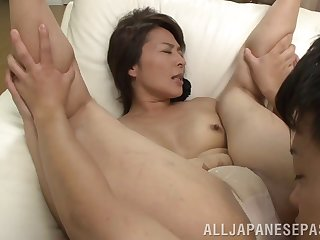 Amateur movie with mature Japanese Hisae Yabe having nice sex