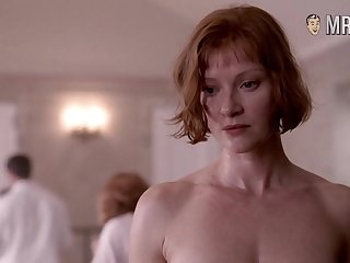 Smiling and chap-fallen Gretchen Mol has juicy big tits and hard nipples