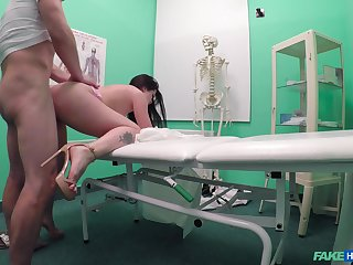 Cassie Fire seeks medical intervention and gets fucked firm instead