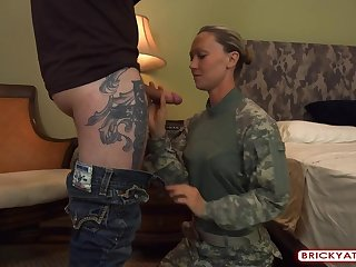 Kristi Naughty Soldier Having Sex In Her Uniform