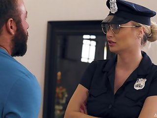 MILF Natalia Starr Caught Wits Boys in blue