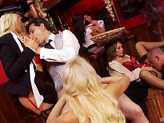 Handsome pornstars enjoy having kinky sex with unlucky dudes